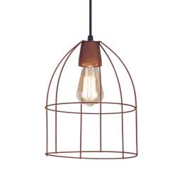 Colgante san justo cardales jaula aviar 1 luz e27 cobre...