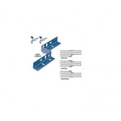 Placa reductora de tramos basica perforada 75mm con clips...
