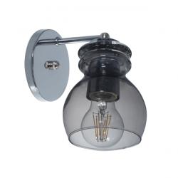 Aplique donbell pompey 1 luz e27 transparente 14cms base...
