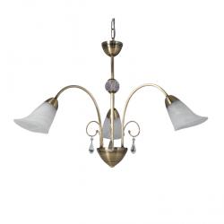 Araña donbell barroco at17/3-g 3 luces con caireles y...