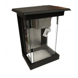 Farol de vidrio pol-luz fm10 chico negro
