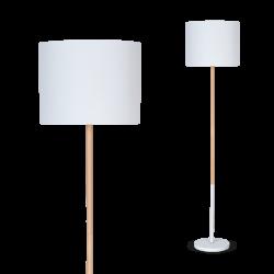 Lámpara de pie dabor tokio e27 h137cm de madera con...