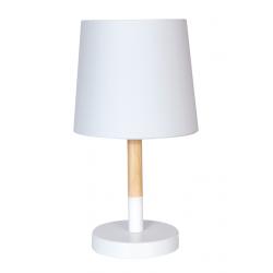 Lámpara de mesa dabor tokio-m e27 h32cm de madera con...