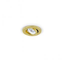 Spot de embutir san justo dicro gu10 fijo oro 80mm