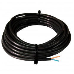 Cable vaina redonda 2x1mm2 x 5 metros grosor de 6.75mm