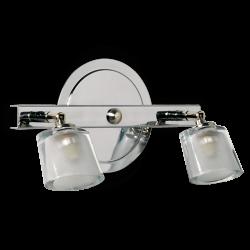 Aplique dabor ovalo 2 luces g9 platil liston