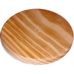 Roseta de madera diametro 8cm
