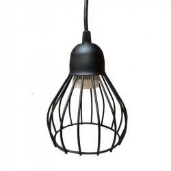 Colgante ferrolux porto tipo jaula 1 luz e27 negro texturado