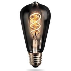 Lámpara led etheos vintage smoked st64 4w luz ultra cálida