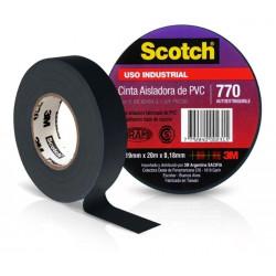 Cinta aisladora 3m 770 de pvc scotch 19 mm x 10 m negro...