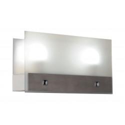 Aplique ferrolux ap-208 diseño sevilla de acero y vidrio...