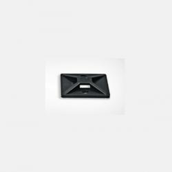 Placa adhesiva hellermann tyton negra pa38 38x38x5.6mm