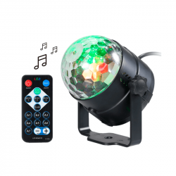 Mini bola disco tbc led rgb party audiorritmica giratoria...