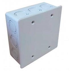 Caja de embutir tecnocom de pvc cuadrada