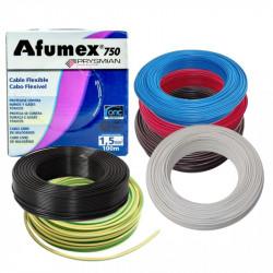 Rollo de cable unipolar prysmian afumex de 1,5mm2 x 100...