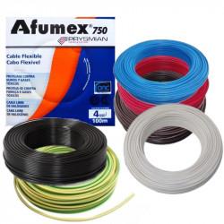 Rollo de cable unipolar prysmian afumex de 4mm2 x 100 metros