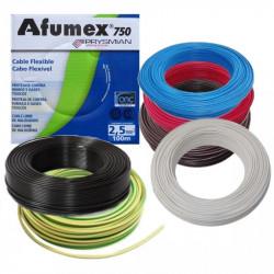 Rollo de cable unipolar prysmian afumex de 2,5mm2 x 100...