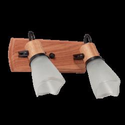 Spot carilux de madera 2 luces oval negro