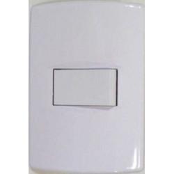 Llave de luz sica life armada con 1 punto de 10a blanco puro