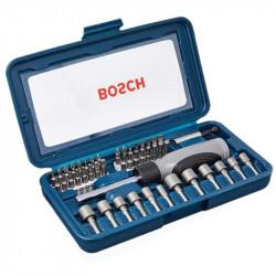 Set destornillador puntas y tubos bosch 46 piezas