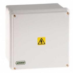 Caja paso genrod pvc ip65 ext.blanca 165x165x110 opaca