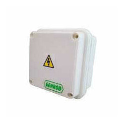 Caja paso genrod pvc ip65 ext.blanca 115x115x110 opaca