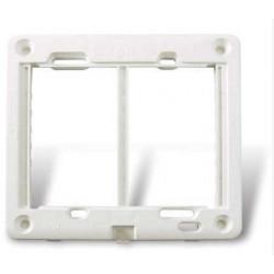 Bastidor cambre doble sxxi/ii de 8 módulos blanco