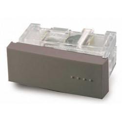 Módulo pulsador cambre bauhaus tecla simple gris