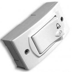 Verona llave exterior blanco 1 pulsador