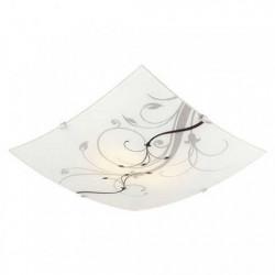 Plafon ferrolux nice para 2 luces cuadrado de vidrio...