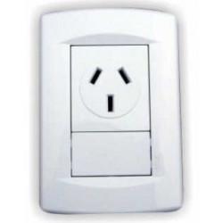 Llave de luz sica dumeco armada con 1 toma corriente de...