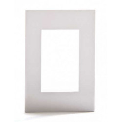 Platinum tapa 3 modulos blanca