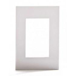 Tapa jeluz platinum para bastidor de 3 módulos blanca
