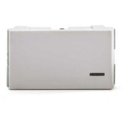 Módulo interruptor jeluz platinum de un punto 10a blanco