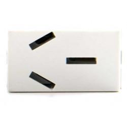 Módulo toma corriente jeluz platinum polarizado 20a blanco