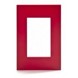 Tapa jeluz platinum para bastidor de 3 módulos rojo