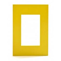Tapa jeluz platinum para bastidor de 3 módulos amarillo