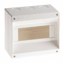 Hp caja tm pvc din exterior  s/puerta 4 a 8 mod.blanco