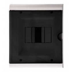 Hp caja tm pvc din embutir  2-4 mod. puerta fume