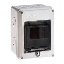 Hp caja tm pvc din ip65 p/pilar 2-4 mod.blanca/fume