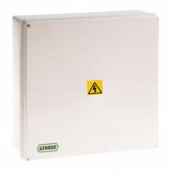 Caja paso genrod pvc ip65 ext.blanca 310x310x110 opaca