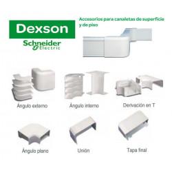 Curva plana dexson 100x45 mm