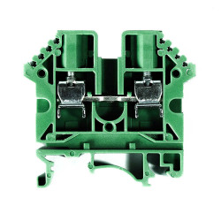 Zoloda borne de paso poliamida bpn-16 16mm verde montaje...