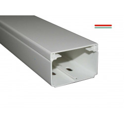 Cablecanal dexson 60x40mm con division blanco 2m