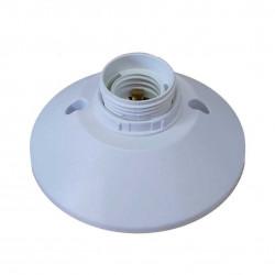 Portalampara percan plast poliamida e27 con floron blanco