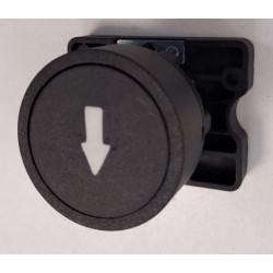 Pulsador steck s-lprn8/f plástico con flecha bajar negro