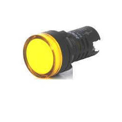 Steck ojo buey led amarillo 220vca p/panel 22mm