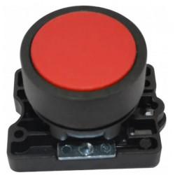 Steck pulsador plastico rasante rojo