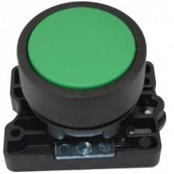 Steck pulsador plastico rasante verde