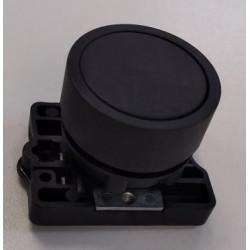 Steck pulsador plastico rasante negro